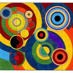 Robert Delaunay, a French painter, printmaker and writer, used Cubism as one of his points of departure. By the 1930s his work was a study of geometric forms and vibrant color. This mural includes color callouts to keep continuous color in the large circles. NOTE: I used my favorite Portfolio brand oil pastels in my sample. PDF FILE INCLUDES: 24 Coloring Pages (8.5″ x 11″) Assembly instructions Coloring Guide Single Page Version FINISHED DIMENSIONS: … Read More