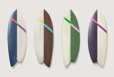 Artisitcally Modern Wave Riders [these are surfboards but I think they would make great pendants (scaled down in size, of course)]