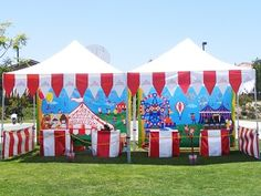 Fundraiser Help: School Carnival ideas - love the banner and table decor!
