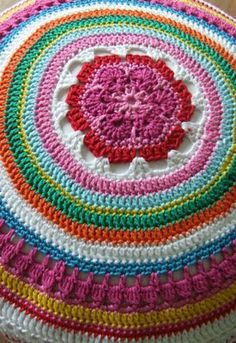 Petite Fee: Crocheted Circular Pad. Very pretty!