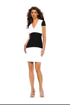 Classic Haute Couture Black and White Color Block dress #SS15 by #Susannabh #BeverlyHills #fashion