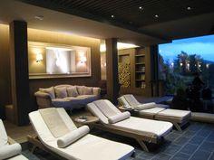 Mountain SPA by Cinzia Dalla Pozza & Stefano Andrighetto architects Spa Lounge, Lounge Areas, Spa Design, Spa Interior, Interior Design, Deco Spa, Restaurants, Loft, Mountain Resort