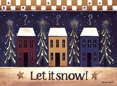 Let It Snow Fine-Art Print by Tonya Crawford at TotalBedroomArt.com