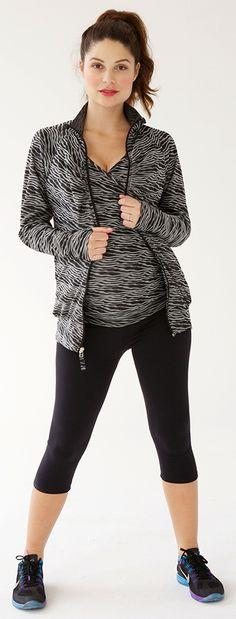 Save 40% with code SAVE40 on Belabumbum's flattering maternity activewear for active expecting and nursing moms.