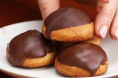Chocolate Strawberry Cream Puffs