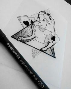 Alice In Wonderland Tattoo Design by Mauricio Hernandez