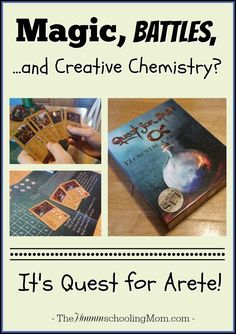 Magic, Battles, and...Creative Chemistry? Check out the new game Quest for Arete for an afternoon of magic, duels, and chemistry fun! - The Hmmmschooling Mom