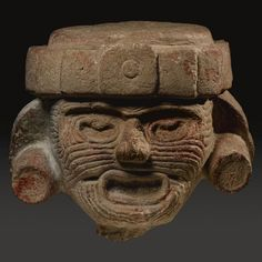 Large teotihuacan/Toltec Stone head of the aged Fire God, possibly Puebla/Oaxaca region Late Classic, ca. A.D. 550-950 - Sotheby's