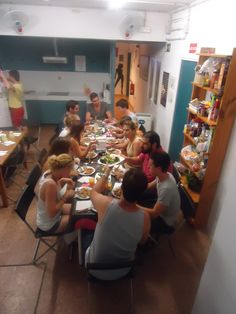 Dinner with Gràcia City Hostel #dinner #barcelona #activity #food #city #street #hostel #graciacityhostel #fun #yummy #friends