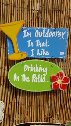 Patio Signs, Outdoor Signs, Happy Hour Bar, Custom Bar Signs, Martini Bar, Different Signs, Backyard Bar, Pub Signs, Gifts For Dog Owners