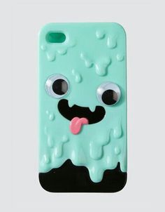 iPhone | Case | Slime | 3D | Teal | Black