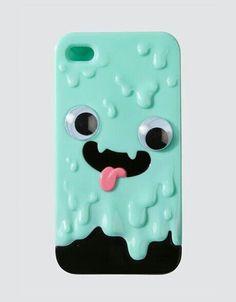 iPhone | Case | Slime | 3D | Teal | Black