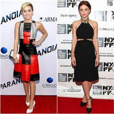 Miley Cyrus in Proenza Schouler vs. Carey Mulligan in Alexander McQueen. Click through to vote!