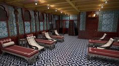 Beautiful new interiors to replicate the original beauty of the original Titanic decor, plus air conditioning; Turkish Bath