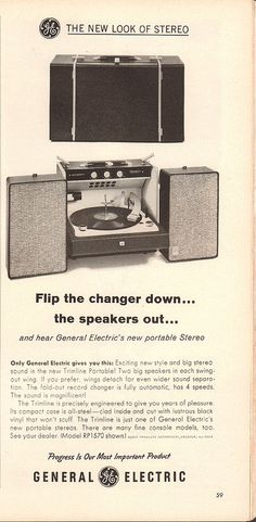 1962 General Electric portable Stereo Advertisement Time Magazine February 16 1962 | by SenseiAlan