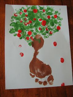 Finger and Foot Print Apple Tree