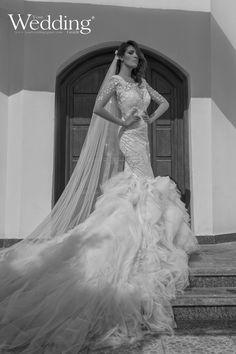 #Wedding_Dress #Bridal #White #Long_Veil #Tulle #Heba_Edris #Your_Wedding_Guide