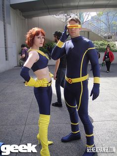 #Cosplay #Mutant: #Cyclops & Jean Grey can someone help me find this suit? in black with red details would be cool as well