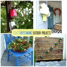 20 Outstanding Outdoor Projects -- Tatertots and Jello