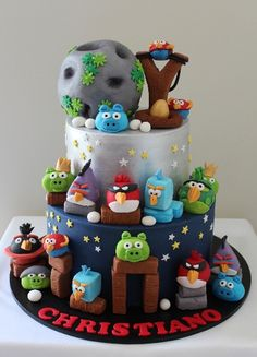 Angry Birds cake. My nephew would flip lol.