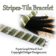 Stripes - Tila Bracelet | JewelryLessons.com