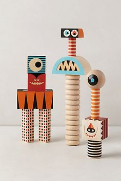 I love these Stack & Scare blocks... they'd be great on the console table in the hallway!