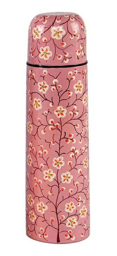 Pink Tree of Life Thermos | hand-painted and shamelessly pretty, for a special warm brew!