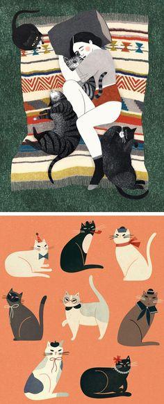 Cat Illustrations #cats #catart #catillustration
