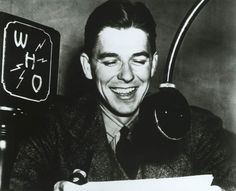 Ronald Reagan as a WHO Radio Announcer in Des Moines, Iowa. 1934-37 | by levanrami