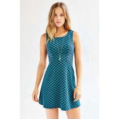 NWT Teal / Turquoise Textured Knit Skater Dress never worn! super stretchy, but is form fitting. great for any occasion! FIRM PRICE!!!!! Urban Outfitters Dresses Midi