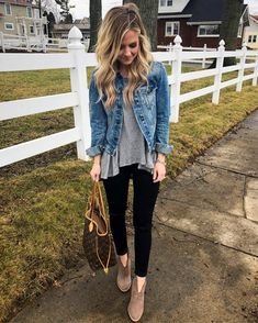 Most Popular Ways To Denim Shirt Outfit Winter Black Leggings Casual Jean Jackets 9 Mode Outfits, Fashion Outfits, Womens Fashion, Girly Outfits, Crazy Outfits, Woman Outfits, Petite Outfits, Grunge Outfits, Short Outfits