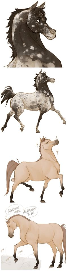 Jean and Marco drawn as horses (Well, Jean was already a horse but whatever) by johannathemad