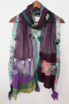 Purple scarf cotton scarf plum purple scarf by Nazcolleccolors