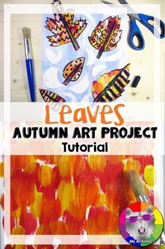 Autumn Art Project, Mixed Media Leaves Line Art Autumn iDeas 🍂 Back To School Art, Middle School Art Projects, Art Lessons Elementary, Upper Elementary, Autumn Art, Autumn Ideas, Autumn Leaves, Creative Artwork, Creative Pics
