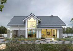 Projekt domu Z Charakterem 3A 135,4 m2 - koszt budowy - EXTRADOM Bungalow Renovation, Hamptons House, Next At Home, Model Homes, House Front, Home Fashion, Planer, House Plans, Floor Plans