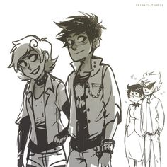 Homestuck roxy and Jake punk - rock look. Jane and dirk be like 'swoon!~<3'