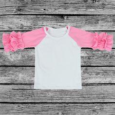 Icing Raglan Baseball Shirt in Light Pink
