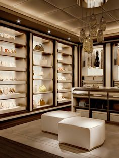 Let us help you transform your house into a designer home. We believe that furniture and decor must be like art and we . Walk In Closet Design, Bedroom Closet Design, Master Bedroom Closet, Closet Designs, Dream Home Design, House Design, Beautiful Closets, Dressing Room Design, Closet Layout