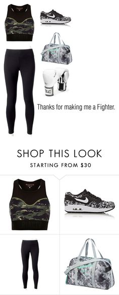 """Fighter by Christina Aguilera"" by merlinluvr22 ❤ liked on Polyvore featuring River Island, NIKE, Jockey, Puma and Everlast"