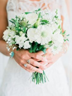 Sweet white bouquet: http://www.stylemepretty.com/destination-weddings/2015/09/11/romantic-bohemian-chic-wedding-in-portugal/ | Photography: Love Is My Favorite Color - http://www.loveismyfavoritecolor.com/
