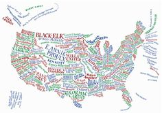 Awesome infographic of the USA as a literary map. Also available: Britain and Northern Ireland.