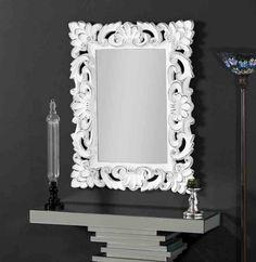 Klassischer Wandspiegel : Modell VESTAL weiß