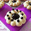 Biscuits presse au coeur chocolat