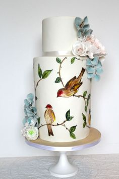 Nature-themed wedding cake decoration: 40 ideas to inspire you! Luxury Wedding Cake, Themed Wedding Cakes, Wedding Cake Decorations, Elegant Wedding Cakes, Beautiful Wedding Cakes, Gorgeous Cakes, Wedding Cake Designs, Pretty Cakes, Boho Wedding