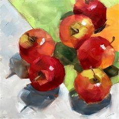"Daily Paintworks - ""apples - Original Fine Art for Sale - © Ans Debije Apple Painting, Fine Art Gallery, Art For Sale, Still Life, Apples, Digital Art, Pears, Artwork, Artist"