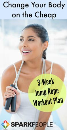 Jumping Rope for Fitness - Fitness Plans - Ideas of Fitness Plans - You may think of jumping rope as childs play. But it may be one of the best forms of cardio there is boasting major benefits in a short amount of time. via SparkPeople Fitness Motivation, Fitness Diet, Health Fitness, Fitness Plan, Fitness Quotes, Wöchentliches Training, Health And Beauty, Health And Wellness, Jump Rope Workout
