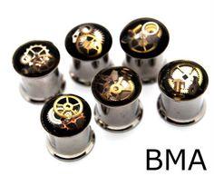 Junkyard steam punk plugs, watch dials #gauges