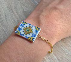 Portuguese tiles replica bracelet Portuguese jewelry by XTory