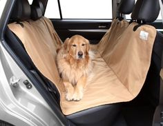 Floppy Ears Design Waterproof Durable and Tough Pet Hammock Seat Cover Tan One Size 54 W across the seats x 65 *** You can find more details by visiting the image link.(This is an Amazon affiliate link)