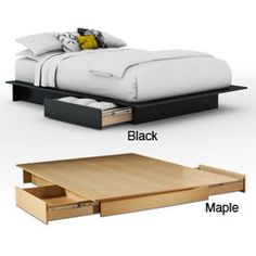 Contemporary Storage Platform Bed | Overstock.com